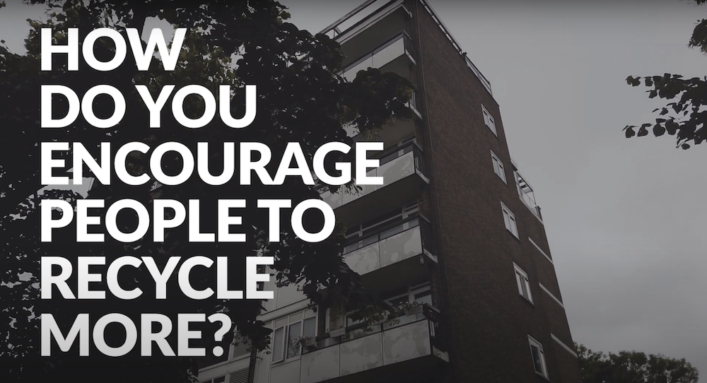 'How to encourage people to recycle more?' graphic