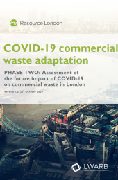 Front cover of COVID-19 commercial waste adaptation report (phase 2)