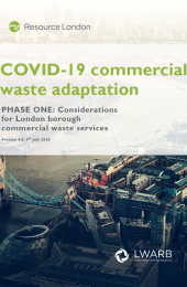 Front page of VOVID-19 commercial waste adaptation report (phase 1)