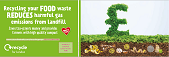 Food recycling campaign - bus back ad - landfill emissions