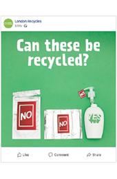 Plastics recycling social media animated thumbnail image