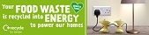 London recycles food waste recycling campaign - apple web banner