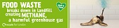 London recycles food waste recycling campaign - banana web banner