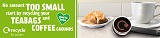 London recycles food waste recycling campaign - coffee cup web banner