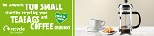 London recycles food waste recycling campaign - coffee grounds web banner