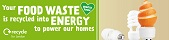London recycles food waste recycling campaign - orange web banner